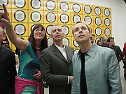Neil Tennant, Janet Street-Porter, David Furnish. Gilbert and George. New Horny pictures. Gilbert and George. White Cube, Hoxton Sq. London 1 June 2001. © Copyright Photograph by Dafydd Jones 66 Stockwell Park Rd. London SW9 0DA Tel 020 7733 0108 www.dafjones.com