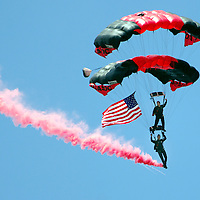 21 July 2007:  The U.S. Army Black Daggers Special Forces Team parachutes into at RFK Memorial Stadium in Washington, D.C. prior to the game between the Colorado Rockies and the Washington Nationals where the Nationals defeated the Rockies 3-0.  ****For Editorial Use Only****
