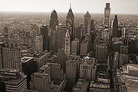 Aerial View, Center City Skyline, Philadelphia