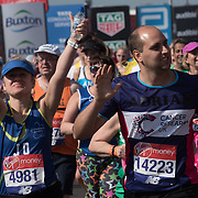 Thousands of runner at the Blue start at London Marathon 2018 on 22 April 2018, Blackhealth, London, UK.