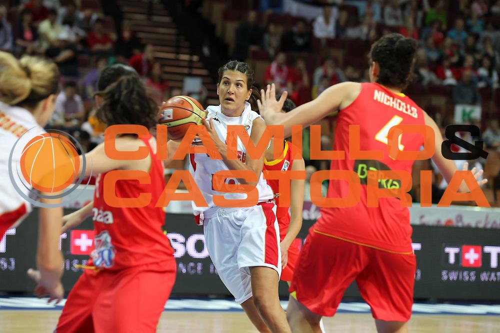 DESCRIZIONE : Katowice Poland Polonia Eurobasket Women 2011 Round 1 Montenegro Spagna Montenegro Spain<br /> GIOCATORE : Milka Bjelica<br /> SQUADRA : Montenegro<br /> EVENTO : Eurobasket Women 2011 Campionati Europei Donne 2011<br /> GARA : Montenegro Spagna Montenegro Spain<br /> DATA : 19/06/2011<br /> CATEGORIA :<br /> SPORT : Pallacanestro <br /> AUTORE : Agenzia Ciamillo-Castoria/E.Castoria<br /> Galleria : Eurobasket Women 2011<br /> Fotonotizia : Katowice Poland Polonia Eurobasket Women 2011 Round 1 Montenegro Spagna Montenegro Spain<br /> Predefinita :