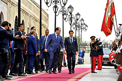 November 2, 2018 - Kasbah, Tunisia - The head of the government, Youssef Chahed received this Friday, November 2, 2018, at the Kasbah Palace in Tunis, Giuseppe Conte, President of the Italian Council of Ministers. Mr Conte's visit is the first in the Maghreb countries after the formation of the new Italian government. (Credit Image: © Chokri Mahjoub/ZUMA Wire)