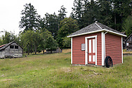 "This building is called ""The Milkhouse"" and was constructed on the Henry Ruckle farmstead around 1911. Photographed in Ruckle Provincial Park on Saltspring Island, British Columbia, Canada."