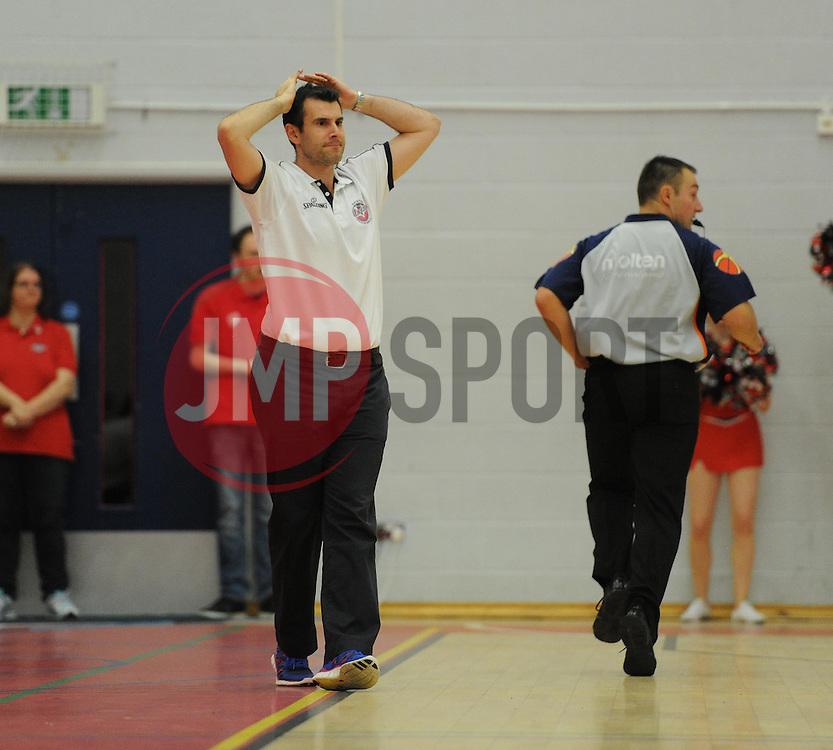 Andreas Kapoulas head coach of Bristol Flyers - Mandatory byline: Alex James/JMP - 07966 386802 - 26/09/2015 - FOOTBALL - SGS Wise Campus - Bristol, England - Bristol Flyers v Cheshire Phoenix - British Basketball League