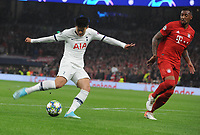 Football - 2019 / 2020 UEFA Champions League - Group B: Tottenham Hotspur vs. Bayern Munich<br /> <br /> Heung - Min Son of Tottenham scores his first half goal, at The Tottenham Hotspur Stadium.<br /> <br /> COLORSPORT/ANDREW COWIE