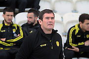 Burton manager Nigel Clough before the Sky Bet League 1 match between Colchester United and Burton Albion at the Weston Homes Community Stadium, Colchester, England on 23 April 2016. Photo by Nigel Cole.