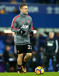 Luke Shaw of Manchester United - Mandatory by-line: Robbie Stephenson/JMP - 01/01/2018 - FOOTBALL - Goodison Park - Liverpool, England - Everton v Manchester United - Premier League