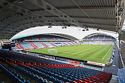 A general image of John Smith's Stadium before the Premier League match between Huddersfield Town and Arsenal at the John Smiths Stadium, Huddersfield, England on 9 February 2019.