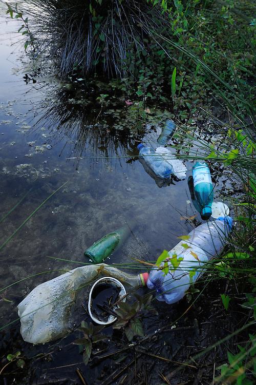Garbage pollution, Danube delta rewilding area, Romania
