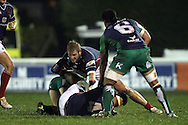 Tai Tuisamoa and Mark Lilley make a tackle during the British &amp; Irish Cup match between London Scottish &amp; Connacht Eagles at Richmond, Greater London on Friday 29th November 2014<br /> <br /> Photo: Ken Sparks | UK Sports Pics Ltd<br /> London Scottish v Connacht Eagles, British &amp; Irish Cup,29th November 2014<br /> <br /> &copy; UK Sports Pics Ltd. FA Accredited. Football League Licence No:  FL14/15/P5700.Football Conference Licence No: PCONF 051/14 Tel +44(0)7968 045353. email ken@uksportspics.co.uk, 7 Leslie Park Road, East Croydon, Surrey CR0 6TN. Credit UK Sports Pics Ltd