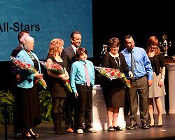 The DODGE Hockey Family All-Stars were recognized at the 2013-14 Canadian Hockey League Awards Ceremony at the Grand Theatre in London, ON on Saturday May 24, 2014. Photo by Aaron Bell/CHL Images