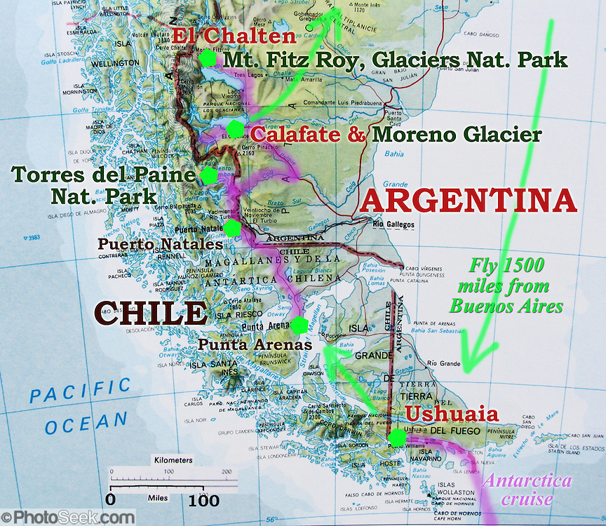 Map Patagonia My Blog - Argentina map ushuaia