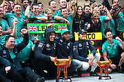 April 20, 2014 - Shanghai, China. UBS Chinese Formula One Grand Prix. Toto Wolff, Lewis Hamilton (GBR), Mercedes Petronas, Nico Rosberg  (GER)