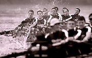 10/12/2003 - Photo  Peter Spurrier.Oxford University trail eights - River Thames Putney to Mortlake Varsity; Boat Race