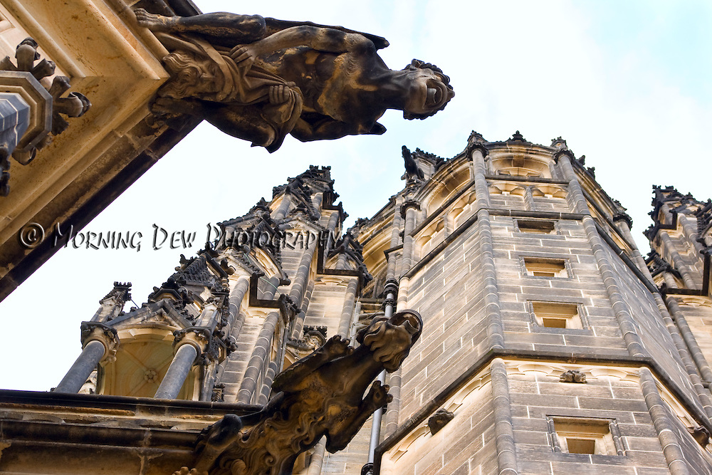 Gargoyles on the Saint Vitus Cathedral in Prague