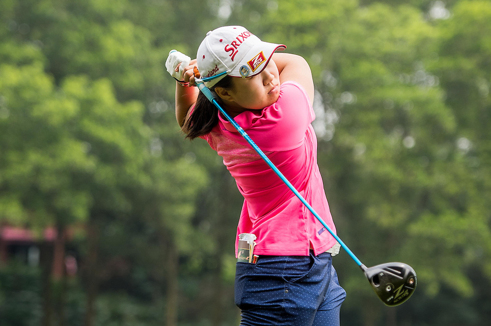 Nasa Hataoka of Japan in action during day three of the 10th Faldo Series Asia Grand Final at Faldo course on 04 March of 2016 in Shenzhen, China. Photo by Xaume Olleros.