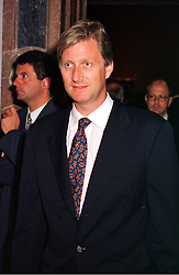HRH PRINCE PHILIPPE OF BELGIUM at an exhibition in London on 7th September 1999.MUY 48