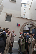= The marais, jewish area, ceremony for the grand rabbi Kaplan born 21 rue des ecouffes  Paris +