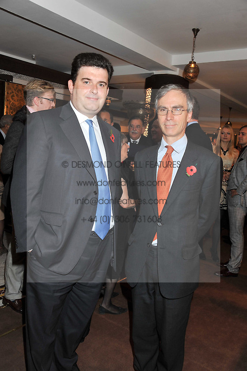 Left to right, ANTHONY BAILEY and ANDREW MURRISON MP at the Inspiring Morocco launch held at Harrods, Knightsbridge, London on 3rd November 2011.