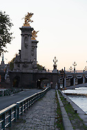 France. Paris Pont Alexandre-III bridge  ,, on Seine River