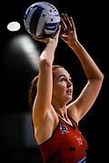 Kate Beveridge of the Tactix warms up during the ANZ Premiership Netball match, Tactix v Magic, Horncastle Arena, Christchurch, New Zealand, 19th May 2019.Copyright photo: John Davidson / www.photosport.nz