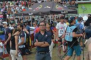 Ciclismo mountain bike world cup Dowhill donne il ct Davide Cassani, Daolasa Val di Sole 24 Agosto  2017 © foto Daniele Mosna