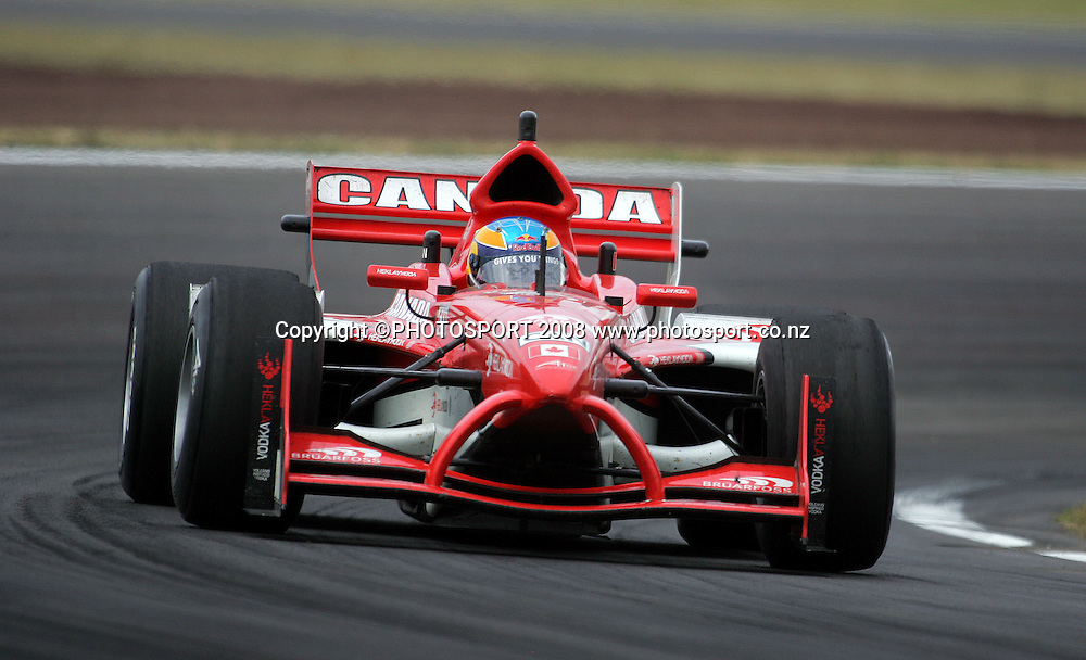 Team Canada's Robert Wickens in the Feature Race.<br /> A1GP Race Day. Taupo Motorsport Park, Taupo, New Zealand. Sunday, 20 January 2008. Photo: Dave Lintott/PHOTOSPORT