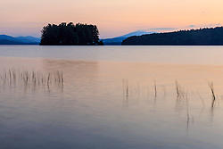 Dawn on Lake Umbagog in Errol, New Hampshire.