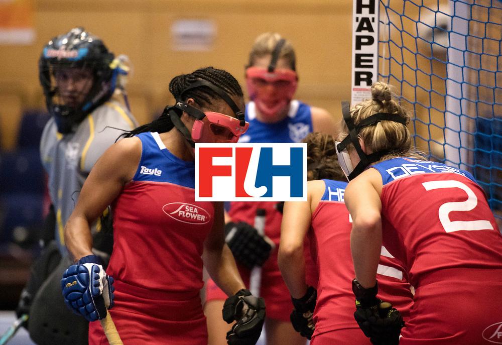 BERLIN - Indoor Hockey World Cup<br /> Czech Republic - Namibia<br /> foto: Face Mask<br /> WORLDSPORTPICS COPYRIGHT FRANK UIJLENBROEK