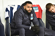 West Bromwich Albion defender Kyle Bartley on the bench during the EFL Sky Bet Championship match between West Bromwich Albion and Norwich City at The Hawthorns, West Bromwich, England on 12 January 2019.