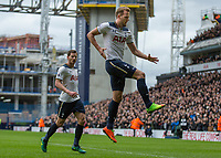 Football - 2016 / 2017 Premier League - Tottenham Hotspur vs. Stoke City<br /> <br /> Harry Kane of Tottenham celebrates scoring his second goal at White Hart Lane.<br /> <br /> COLORSPORT/DANIEL BEARHAM