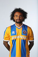 Junior Brown of Shrewsbury Town - Shrewsbury Town Photo Call Season 2015-2016