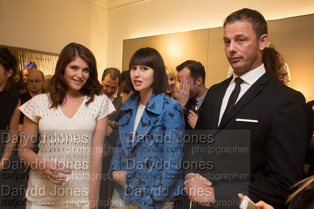 GEMMA ARTERTON; CAREY MALNICHUK, Pringle launch party, Mount St. London. 16 September 2013
