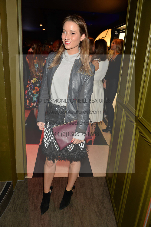 KELLY EASTWOOD at a party to celebrate the 1st anniversary of Hello! Fashion Monthly magazine held at Charlie, 15 Berkeley Street, London on 14th October 2015.