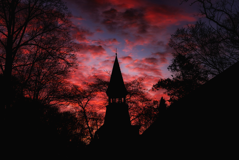 Oella Dawn and Church in historic Oella, Maryland.