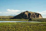 Beaverhead Rock State Park, Beaverhead Rock, Lewis and Clark landmark, Montana, 4,949 feet, Pioneer Mountains in background