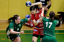 Jericek Nina of Olimpija vs Alja Koren of Krim at handball Slovenian cup Finals match  between RK Olimpija and RK Krim Mercator, on March 28, 2010, SD Leon Stukelj, Novo mesto, Slovenia. (Photo by Vid Ponikvar / Sportida)