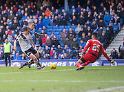 Rangers&rsquo; Wes Foderingham saves from Dundee&rsquo;s Paul McGowan - Rangers v Dundee, William Hill Scottish Cup quarter final at Ibrox Park<br /> <br />  - &copy; David Young - www.davidyoungphoto.co.uk - email: davidyoungphoto@gmail.com