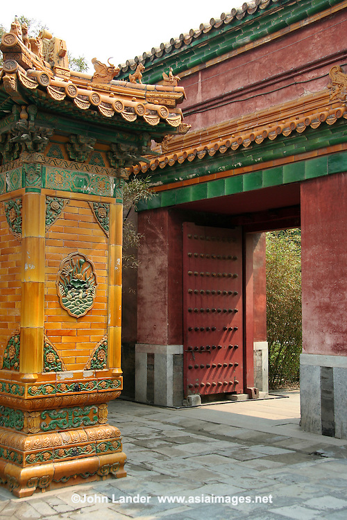 The Imperial gardens at the Forbidden city -  Outside of the Gate of Terrestrial Tranquility is Yuhuayuan, the Imperial Garden. Constructed during the Ming dynasty the garden is rectangular in shape and covers 12,000 square meters. This was a private retreat for the imperial family and is typical of the Chinese garden design. There are  twenty structures, each of a different style, and the ways in which they harmonise with the trees, rockeries, flower beds and sculptural objects such as the bronze incense burners is  tribute to the art of the designers that so much can be achieved in so small a space.