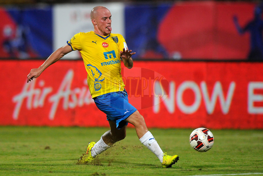 Iain Hume of Kerala Blasters FC during match 49 of the Hero Indian Super League between Kerala Blasters FC and North East United FC held at the Jawaharlal Nehru Stadium, Kochi, India on the 30th November.<br /> <br /> Photo by:  Pal Pillai/ ISL/ SPORTZPICS