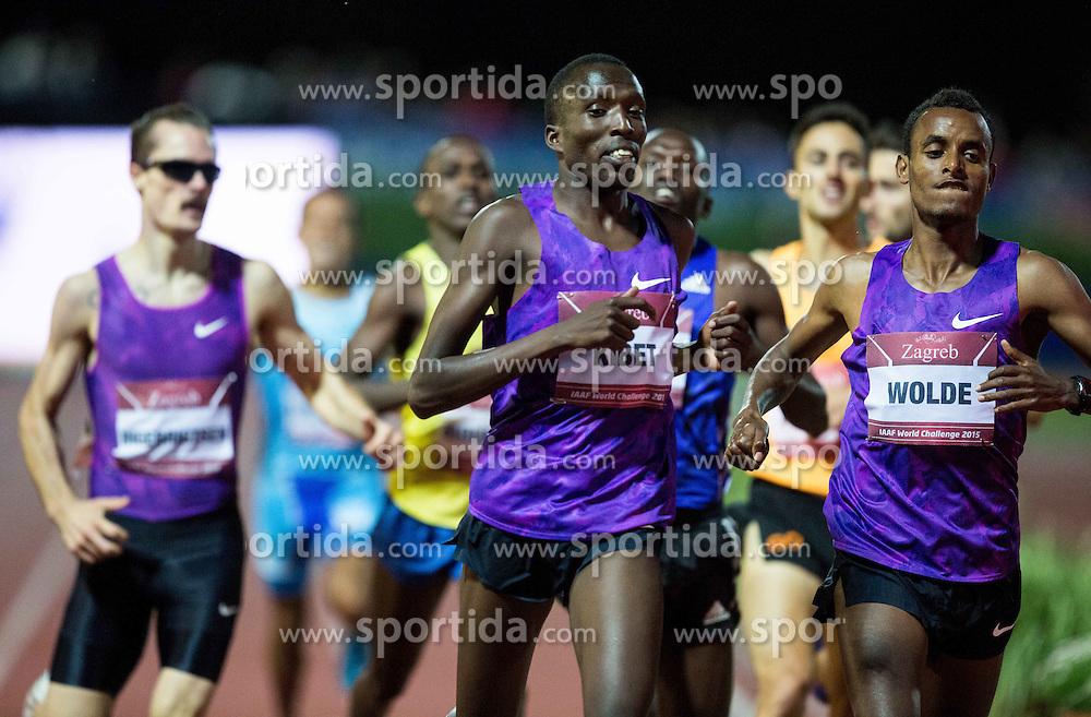 Winner Vincent Kibet of Kenya and Dawit Wolde of Ethiopa compete in 1500 Men during IAAF World Challenge Zagreb - The 65th Hanzekovic Memorial Meeting, on September 8, 2015, in Stadium Mladost, Zagreb, Croatia. Photo by Vid Ponikvar / Sportida