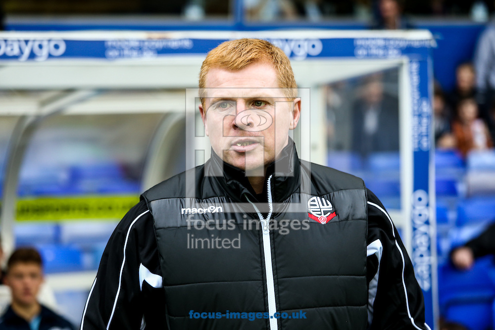 Bolton Wanderers manager Neil Lennon during the Sky Bet Championship match at St Andrews, Birmingham<br /> Picture by Andy Kearns/Focus Images Ltd 0781 864 4264<br /> 18/10/2014