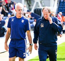 Ipswich Town Manager, Mick McCarthy and Preston North End Manager, Simon Grayson - Mandatory byline: Matt McNulty/JMP - 07966386802 - 22/08/2015 - FOOTBALL - Deepdale -Preston,England - Preston North End v Ipswich Town - Sky Bet Championship