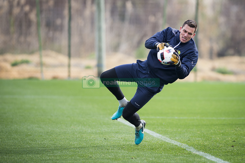 January 6, 2018 - Oliva, SPAIN - Gent's goalkeeper Lovre Kalinic pictured in action during the second day of the winter training camp of Belgian first division soccer team KAA Gent, in Oliva, Spain, Saturday 06 January 2018. BELGA PHOTO JASPER JACOBS (Credit Image: © Jasper Jacobs/Belga via ZUMA Press)
