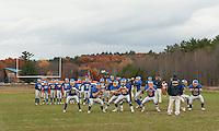Boys varsity football Gilford versus Newport October 30, 2010.