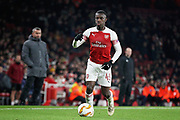 Arsenal's Eddie Nketiah (49) on the ball during the Europa League group stage match between Arsenal and FK QARABAG at the Emirates Stadium, London, England on 13 December 2018.