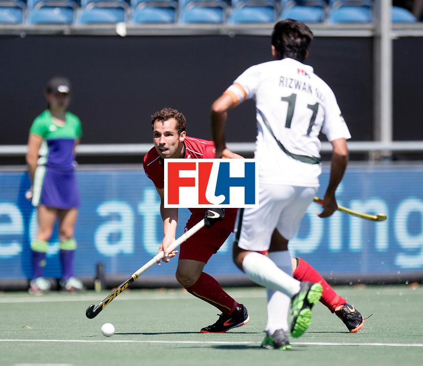 BREDA - Rabobank Hockey Champions Trophy<br /> Belgium - Pakistan<br /> Photo: Florent van Aubel.<br /> COPYRIGHT WORLDSPORTPICS FRANK UIJLENBROEK