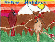 Holiday card designed by Yeliana Larsen of River Oaks Elementary School.