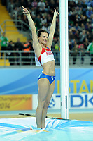 ATHLETICS - WORLD CHAMPIONSHIPS INDOOR 2012 - ISTANBUL (TUR) 09 to 11/03/2012 - PHOTO : STEPHANE KEMPINAIRE / KMSP / DPPI - <br /> POLE VAULT - WOMEN - FINALE - GOLD MEDALE - YELENA ISINBAEVA (RUS)