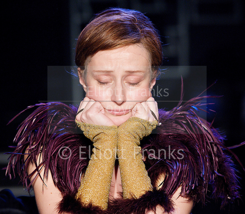 Victor / Victoria <br /> by Blake Edwards <br /> / Henry Mancini <br /> Leslie Bricusse<br /> at Southwark Playhouse, London, Great Britain <br /> 30th October 2012 <br /> press photocall<br /> <br /> Anna Francolini as Victoria<br /> <br /> Richard Dempsey as Toddy <br /> <br />  Photograph by Elliott Franks